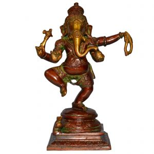 Dancing God Ganesha Handmade Brass Statue